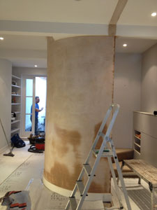Plastering Work in Progress